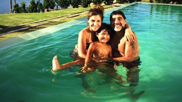 Maradona celebra la Navidad con su hija Giannina
