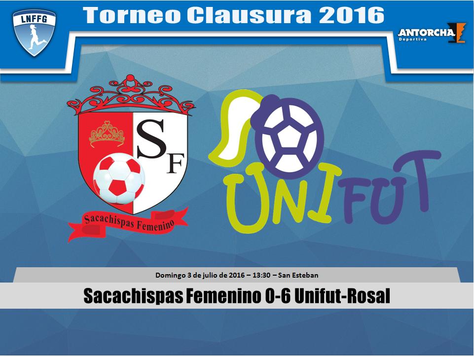 Liga Femenina - Final de Ida - Sacachispas Femenino 0-6 Unifut-Rosal - 03/07/2016