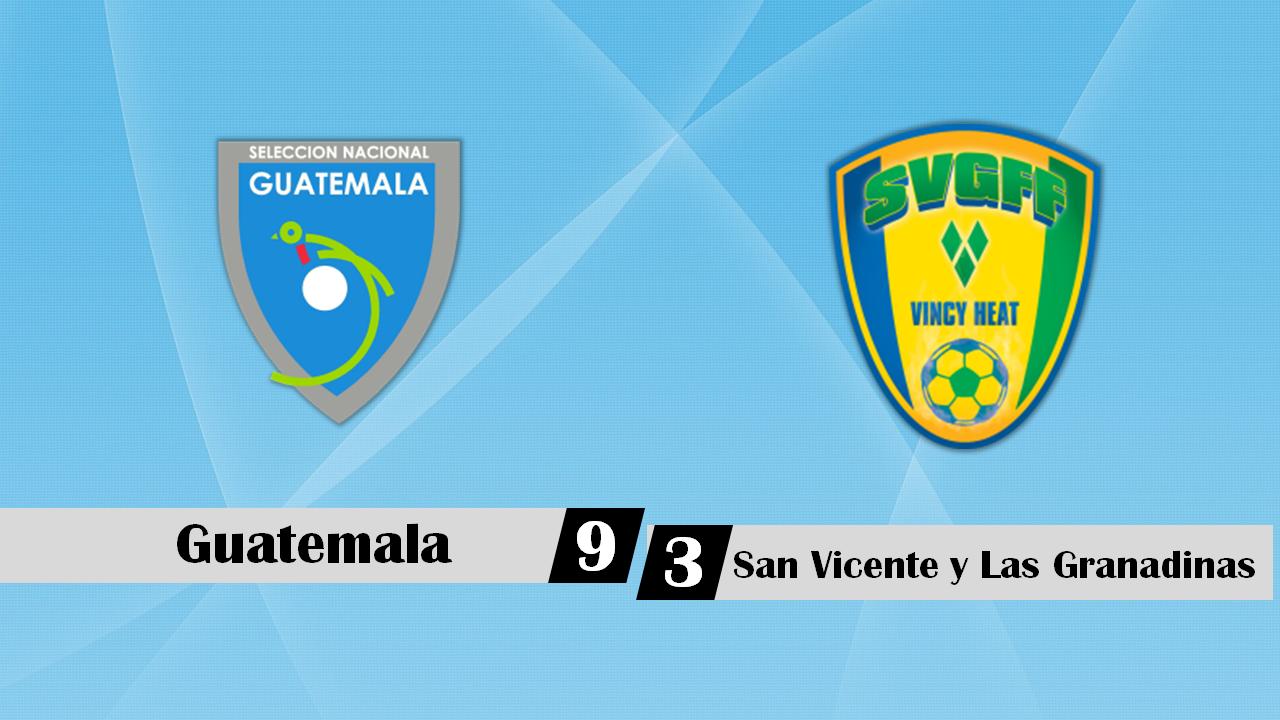 Eliminatoria Mundial Rusia 2018 – Guatemala 9-3 San Vicente y Las Granadinas – 06/09/2016