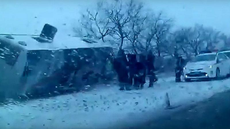 (((VIDEO))) Mueren 10 niños gimnastas y dos entrenadores rusos en un accidente de bus