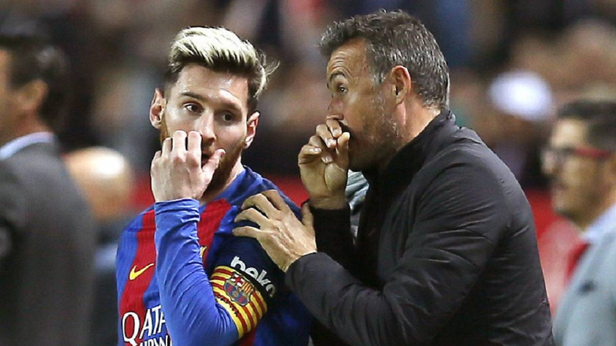 Luis Enrique no comenta sobre Messi