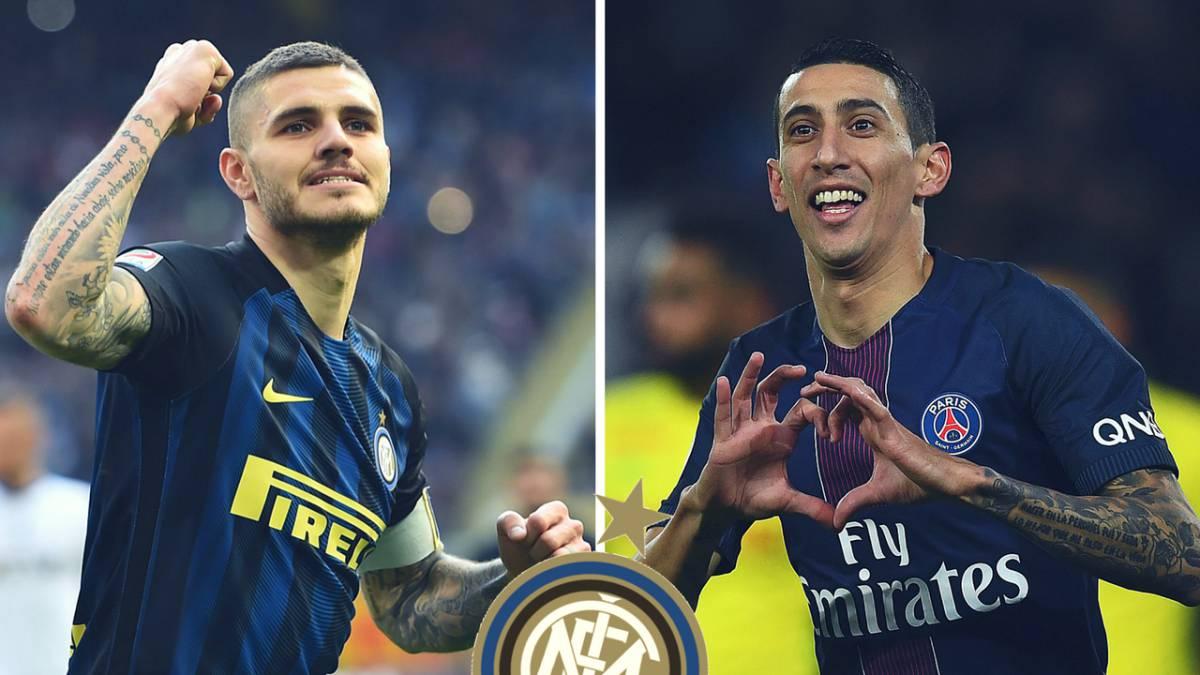 El Inter sueña con una dupla Icardi-Di María en ataque
