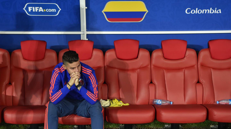 James Rodríguez luego de la eliminación de Colombia