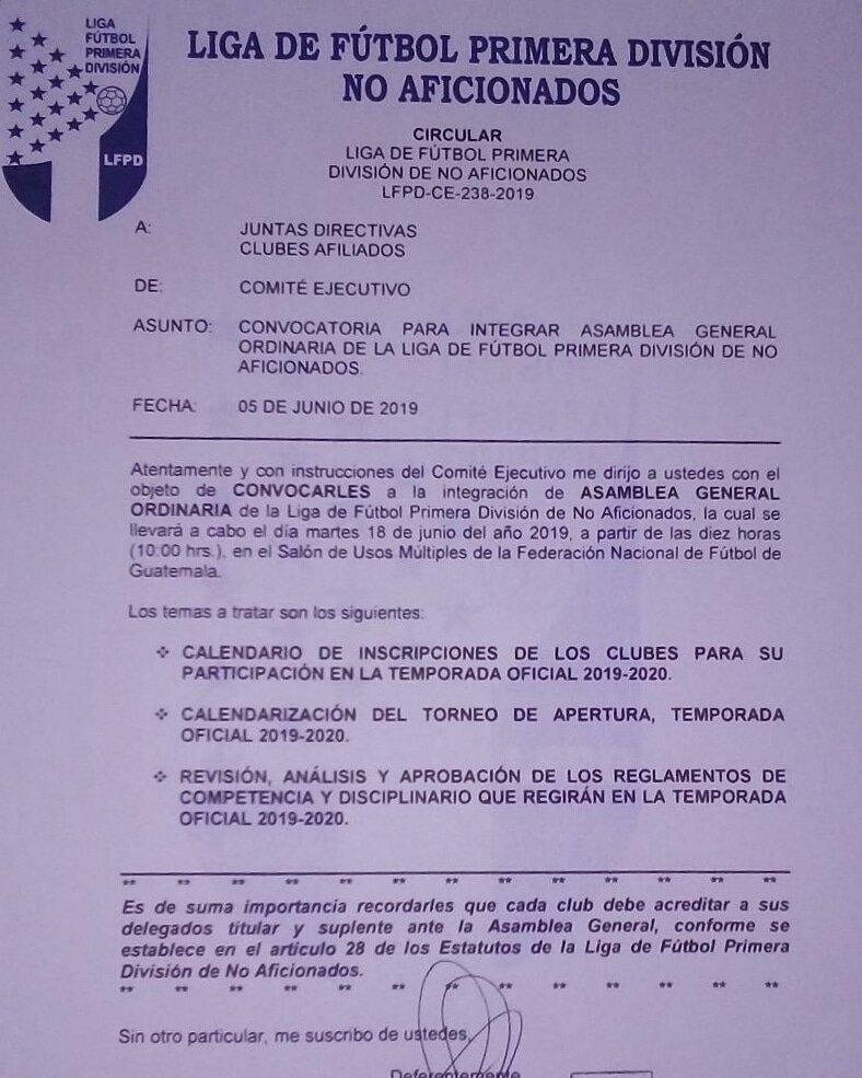 Calendario Primera Division Futbol Guatemala 2019.El Proximo 12 De Junio Se Conocera El Calendario Para El