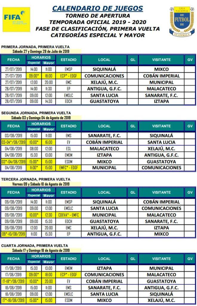 Calendario Futbol Liga Bbva 2020.Calendario Mundial De Futbol 2020