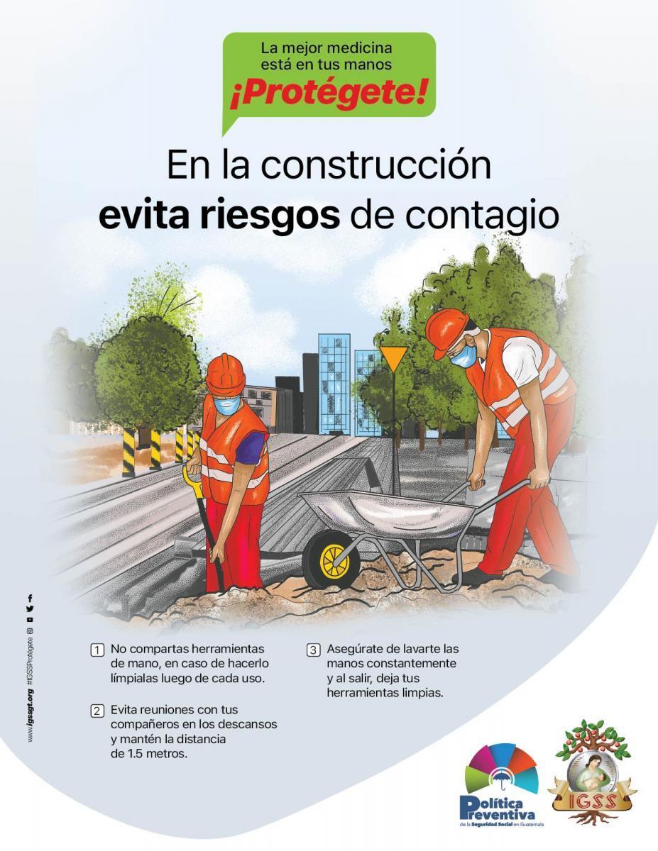 En la construcción protégete.